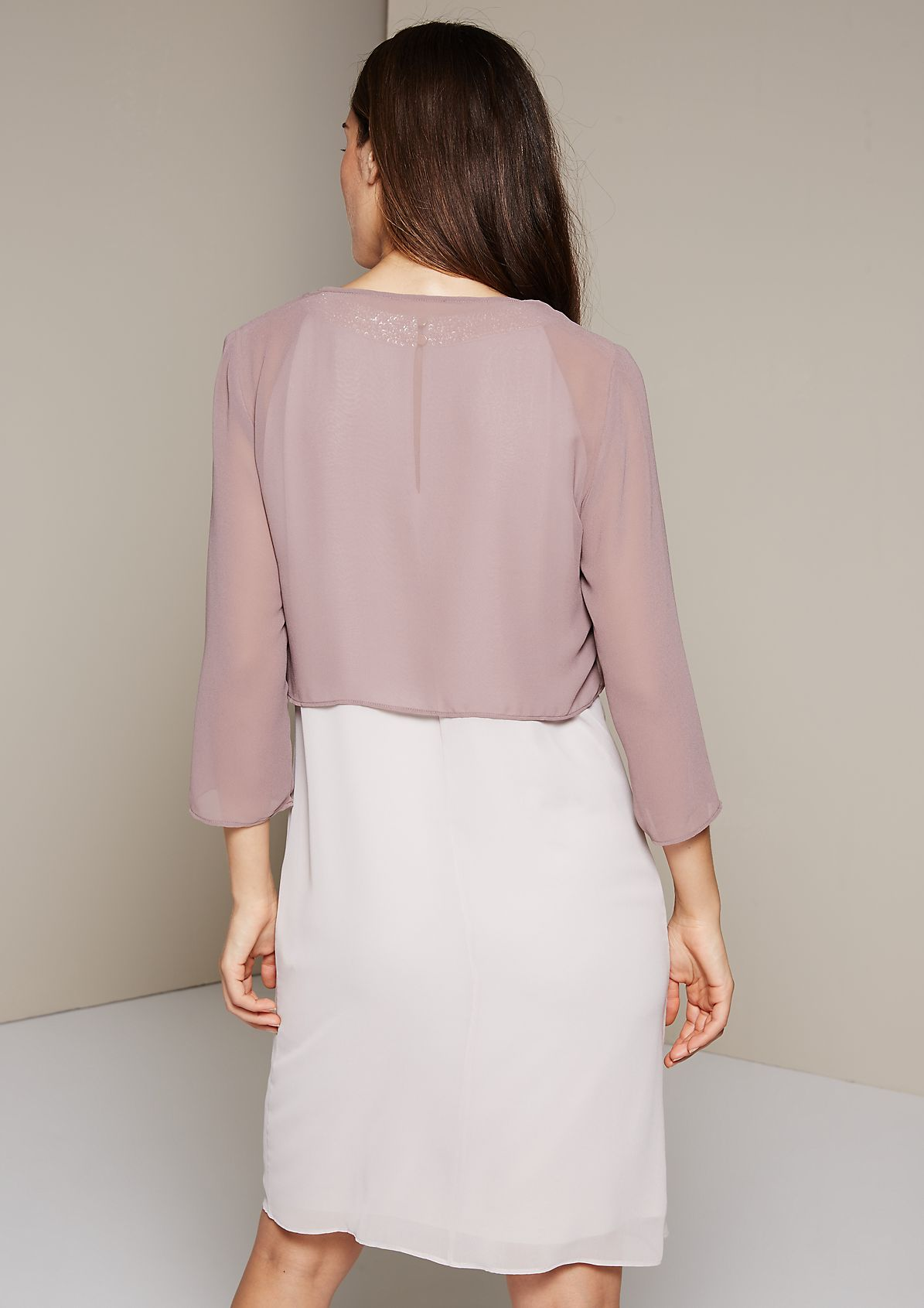 Delicate crêpe bolero with 3/4-length sleeves from s.Oliver