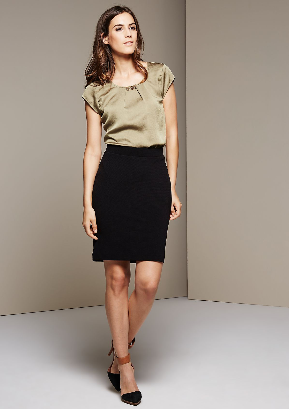 Versatile, pretty skirt with beautiful details from s.Oliver