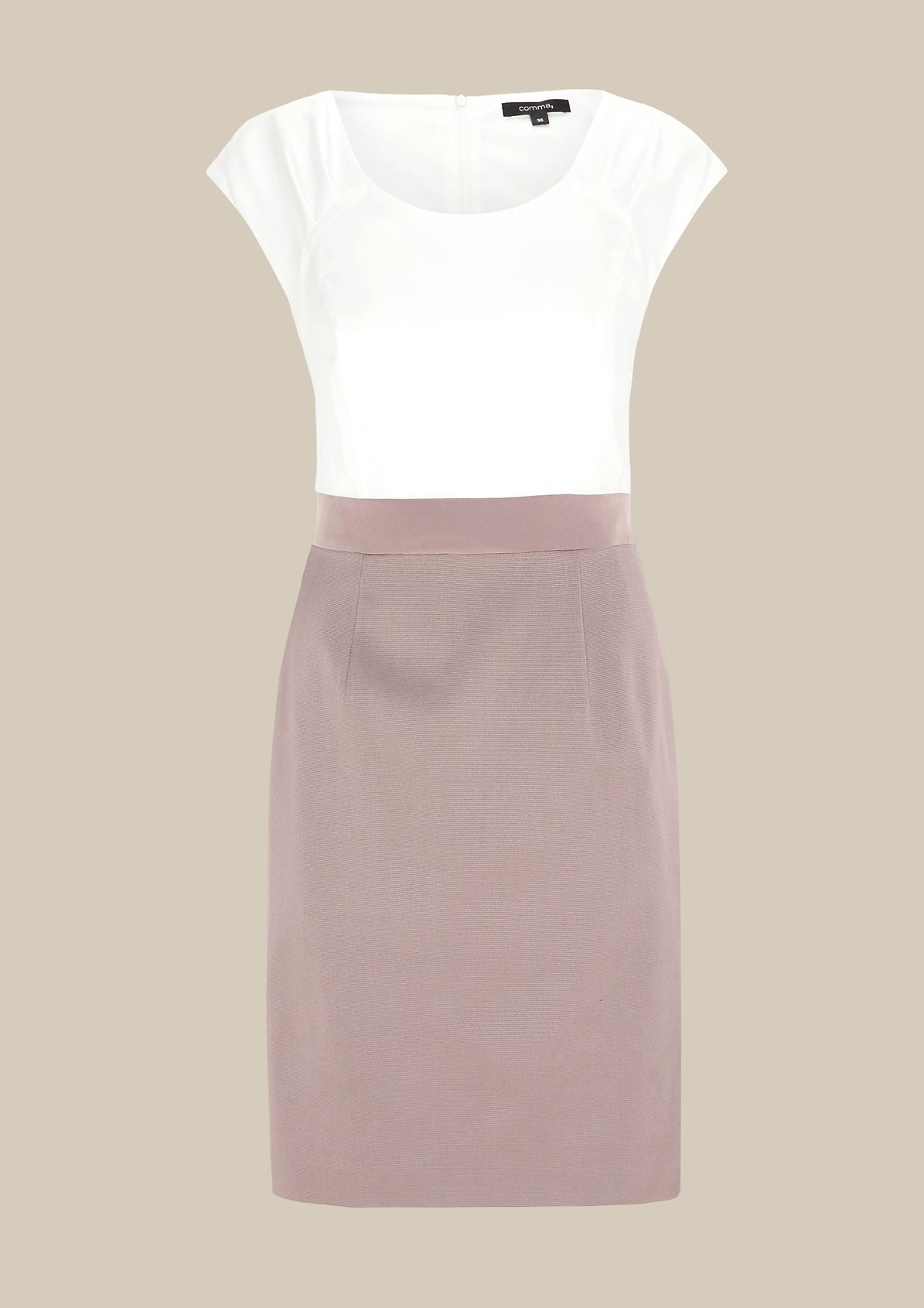 Fine evening dress in a two-tone design from s.Oliver