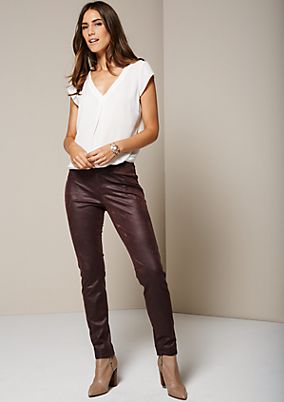 Extravagant jeans made of soft imitation leather from s.Oliver