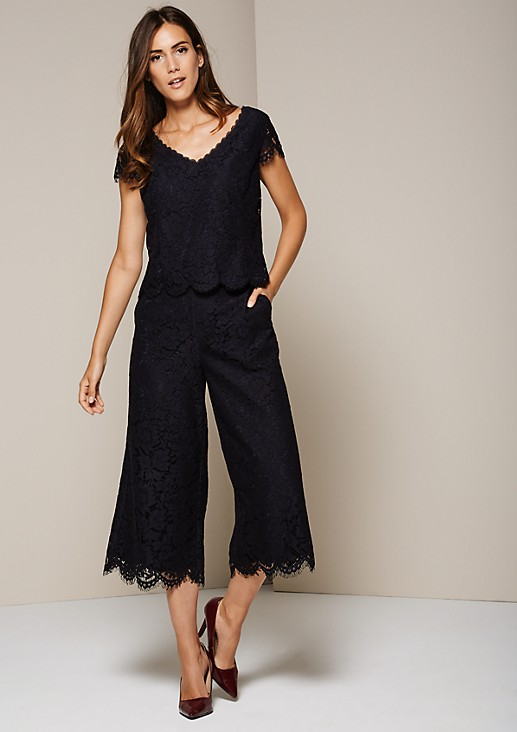 Culottes and top in delicate lace from s.Oliver