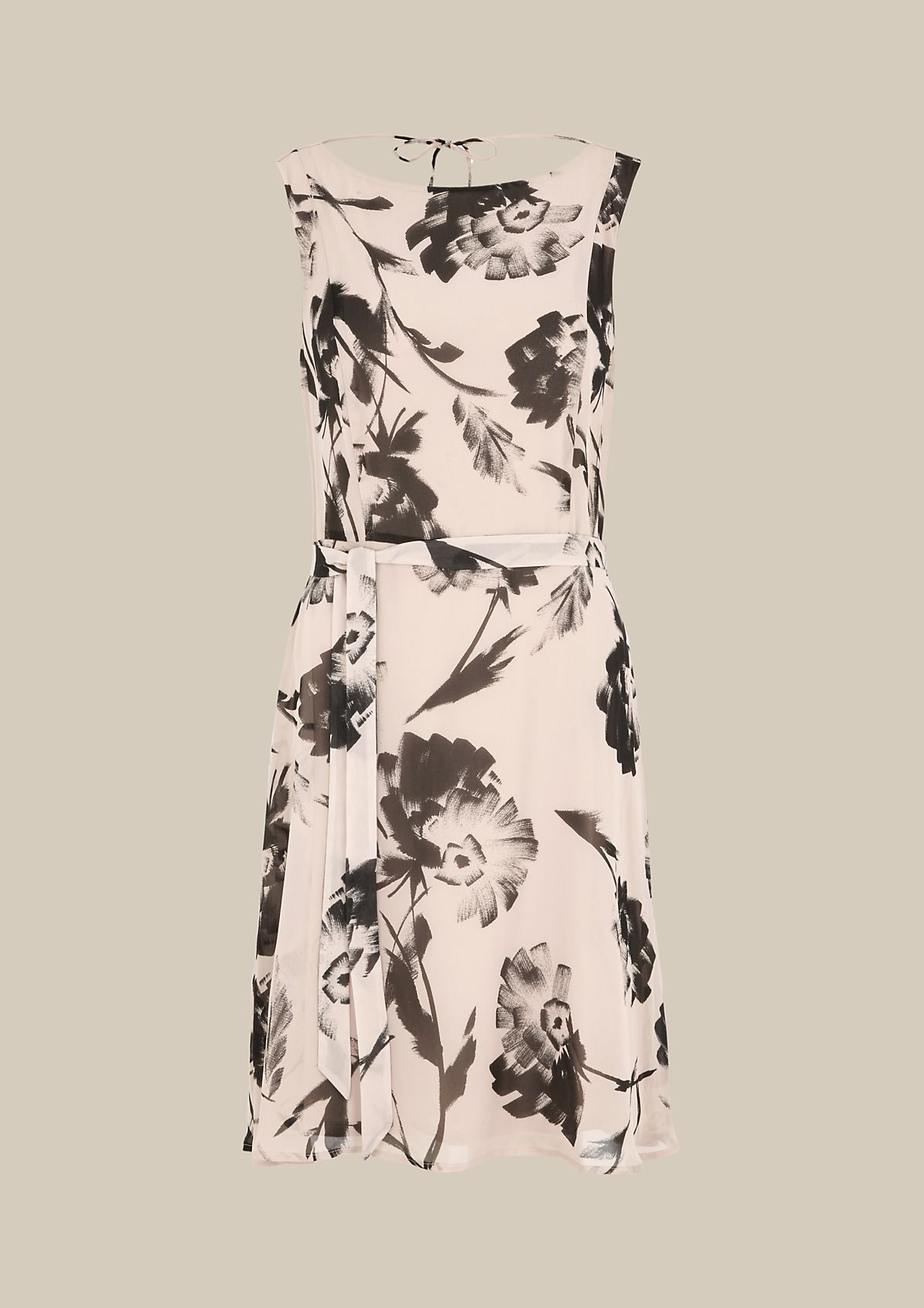 Lightweight crêpe dress with a beautiful all-over print from s.Oliver