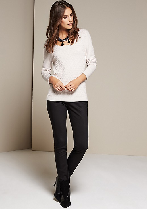 Soft knitted jumper with a beautiful pattern from s.Oliver