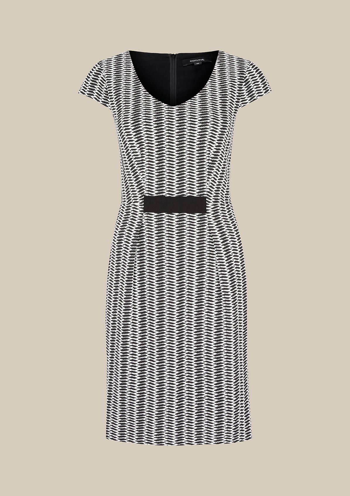 Elegant dress with a fine jacquard pattern from s.Oliver
