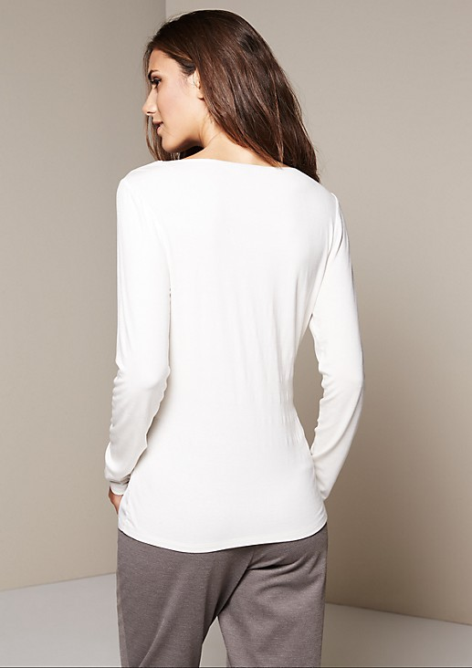 Smart long sleeve top in a fabric blend from s.Oliver