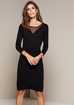 Elegant sheath dress with 3/4-length sleeves from s.Oliver
