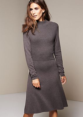 Elegant knitted dress with long sleeves from s.Oliver