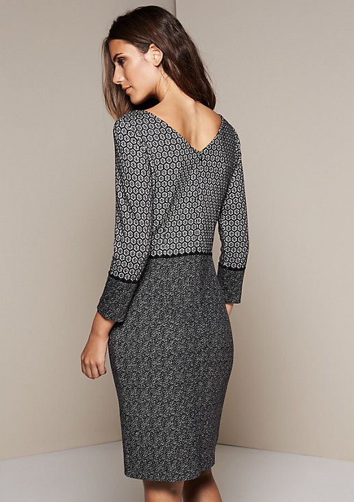 Smart business dress in a pattern mix from s.Oliver