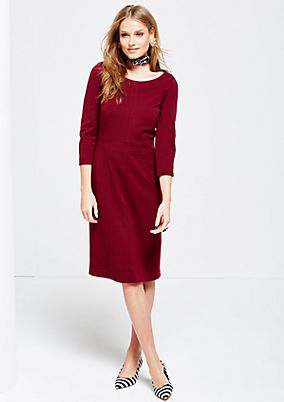 Elegant pencil dress with 3/4-length sleeves from s.Oliver