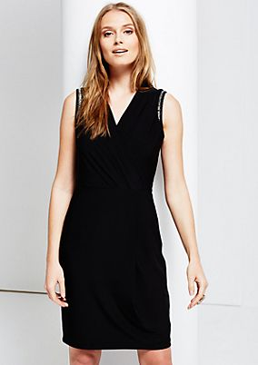 Glamorous cocktail dress with decorative trim from s.Oliver
