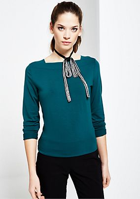 Classic long sleeve top with sophisticated details from s.Oliver