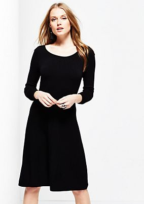 Soft knitted dress with long sleeves from s.Oliver