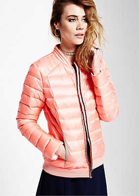Warm down jacket with a beautiful quilted pattern from s.Oliver