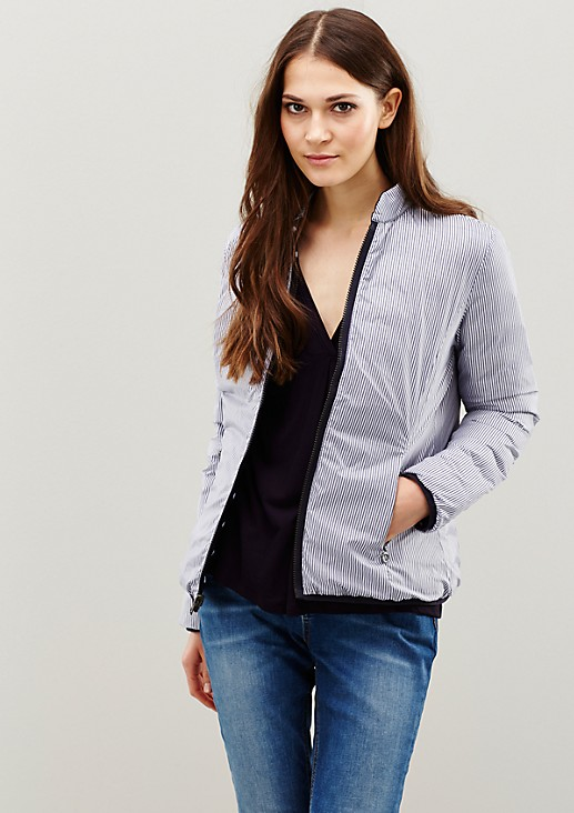 Lightweight down jacket with a sophisticated pattern from s.Oliver