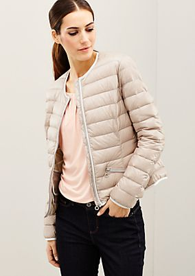 Glamorous down jacket with exciting details from s.Oliver