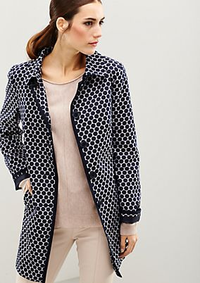 Sporty satin coat with a 60s op art pattern from s.Oliver