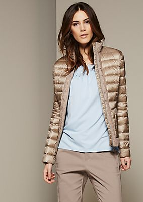Lightweight quilted jacket with delicate lace elements from s.Oliver