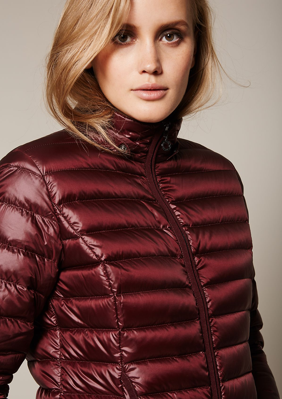 Lightweight down jacket with a button-off hood from s.Oliver