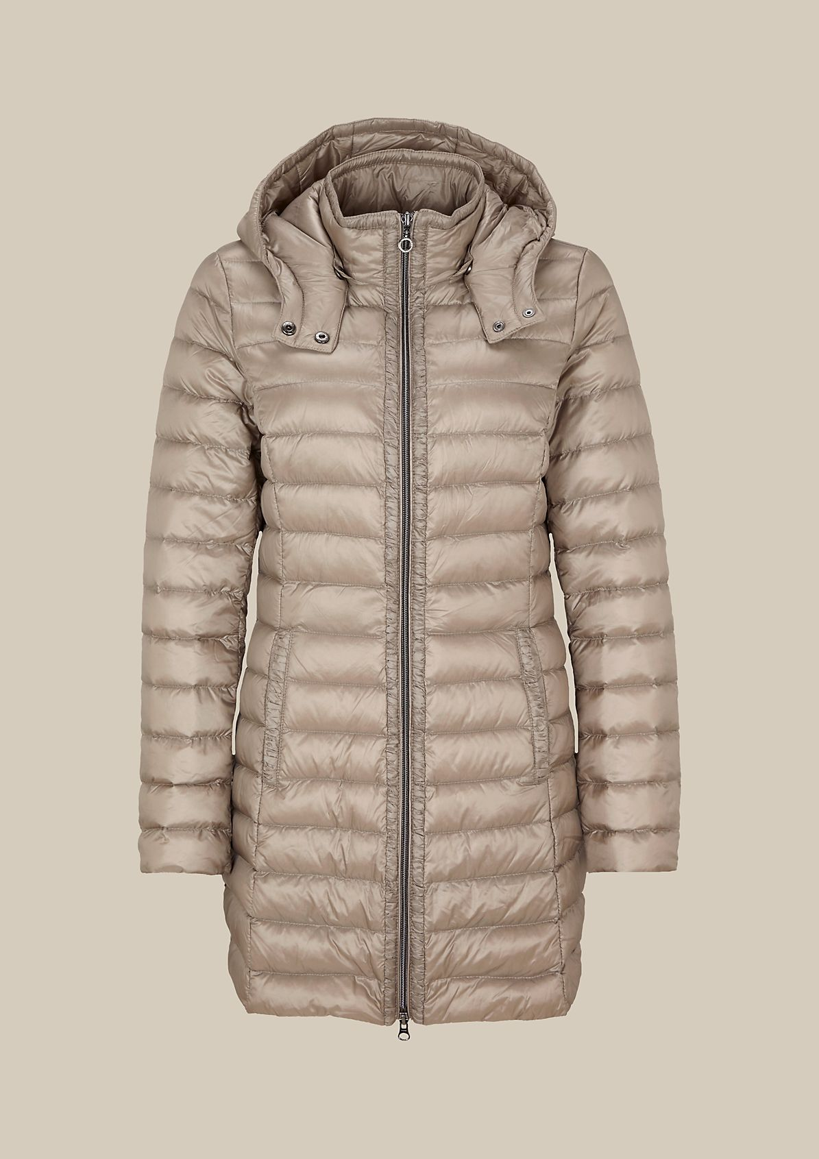 Lightweight down coat with a detachable hood from s.Oliver
