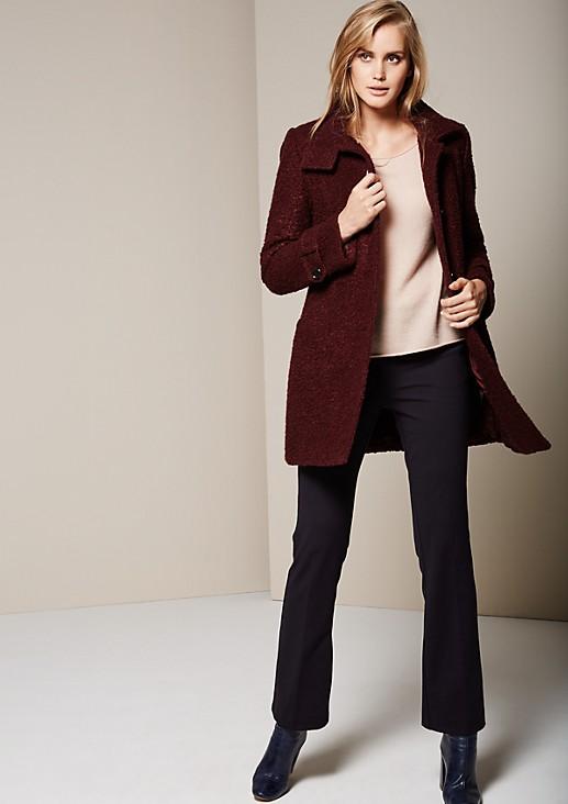 Elegant bouclé coat with smart details from s.Oliver
