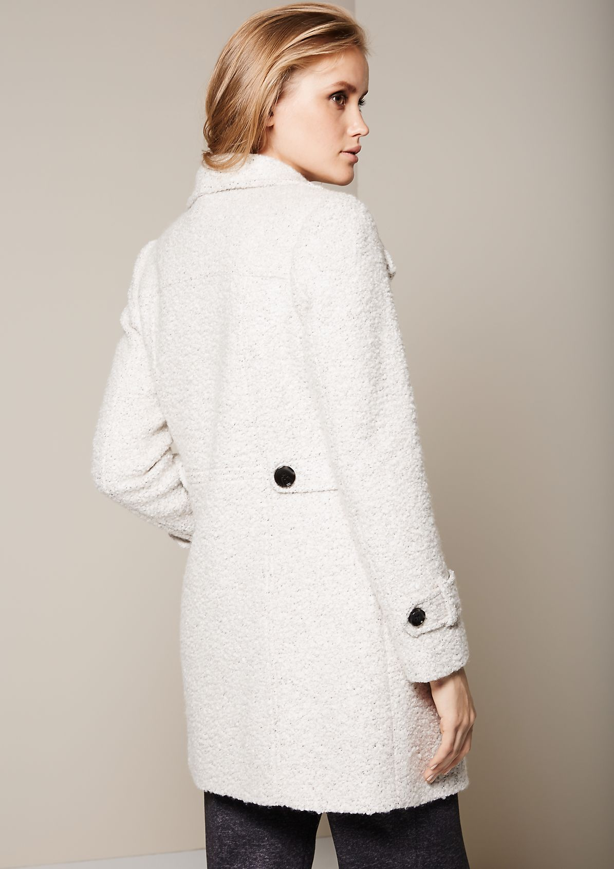 Elegant bouclé coat with smart details from s.Oliver
