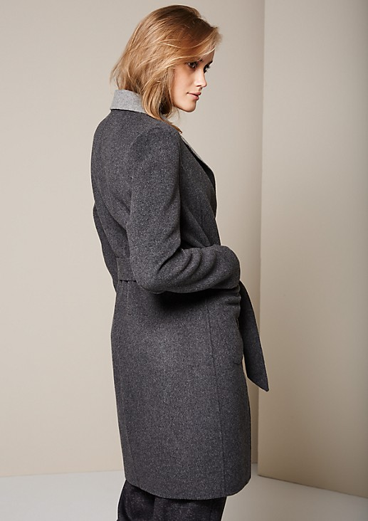 Beautiful reversible coat with a wide belt from s.Oliver