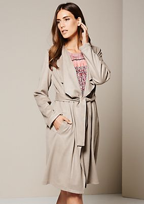 Soft coat with a belt from s.Oliver