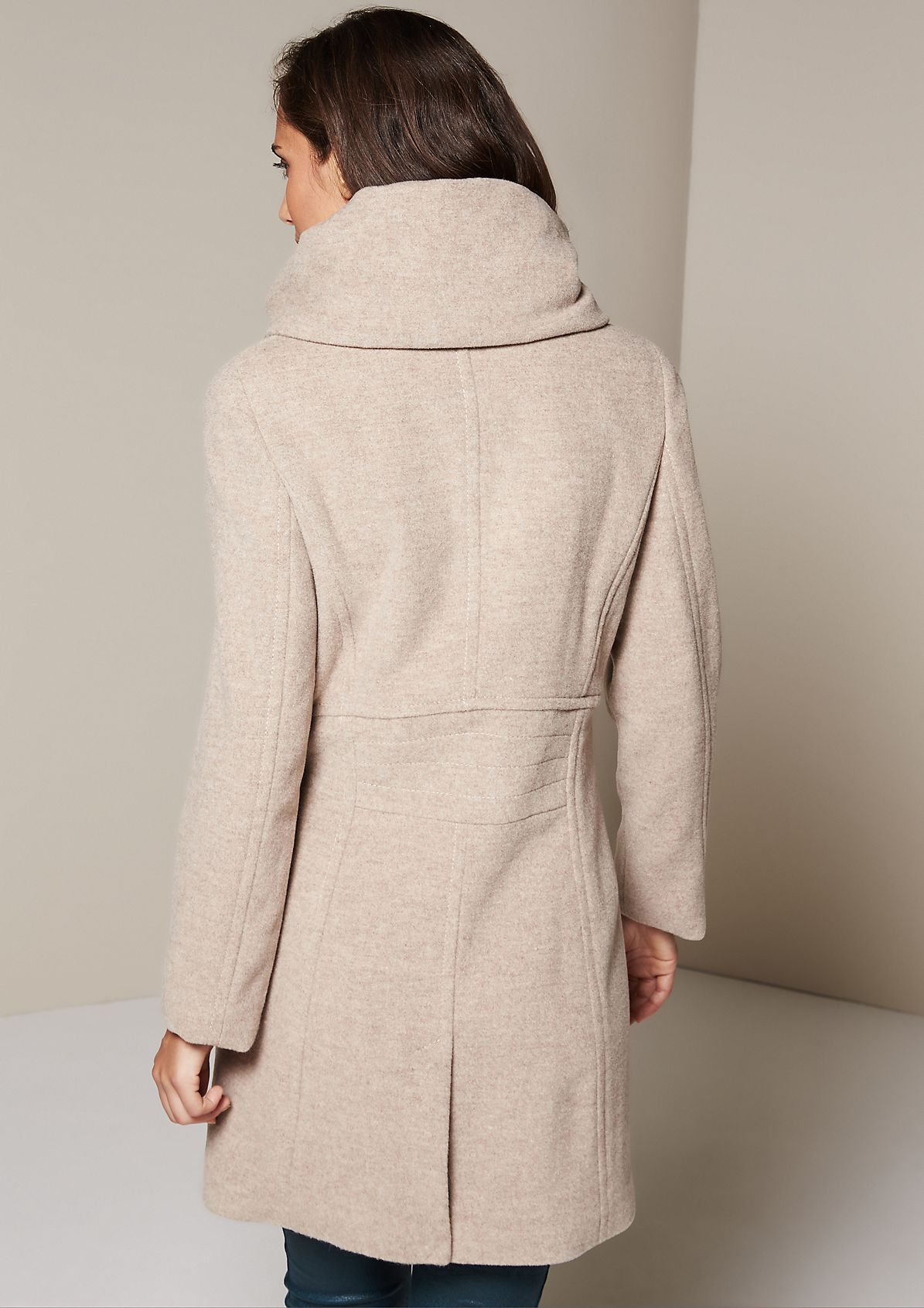 Cosy winter coat with a roll neck collar from s.Oliver