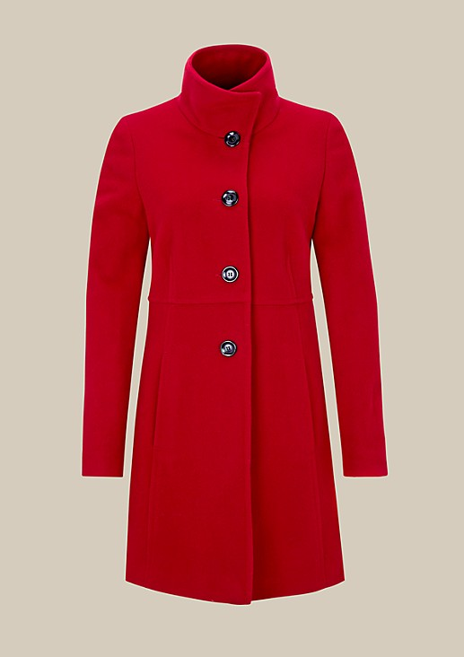 Warm coat in elegant fabric from s.Oliver