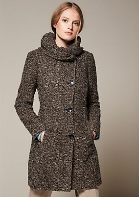 Warm winter coat in a bouclé look from s.Oliver