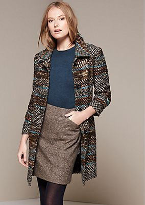 Smart winter coat in a bouclé look from s.Oliver