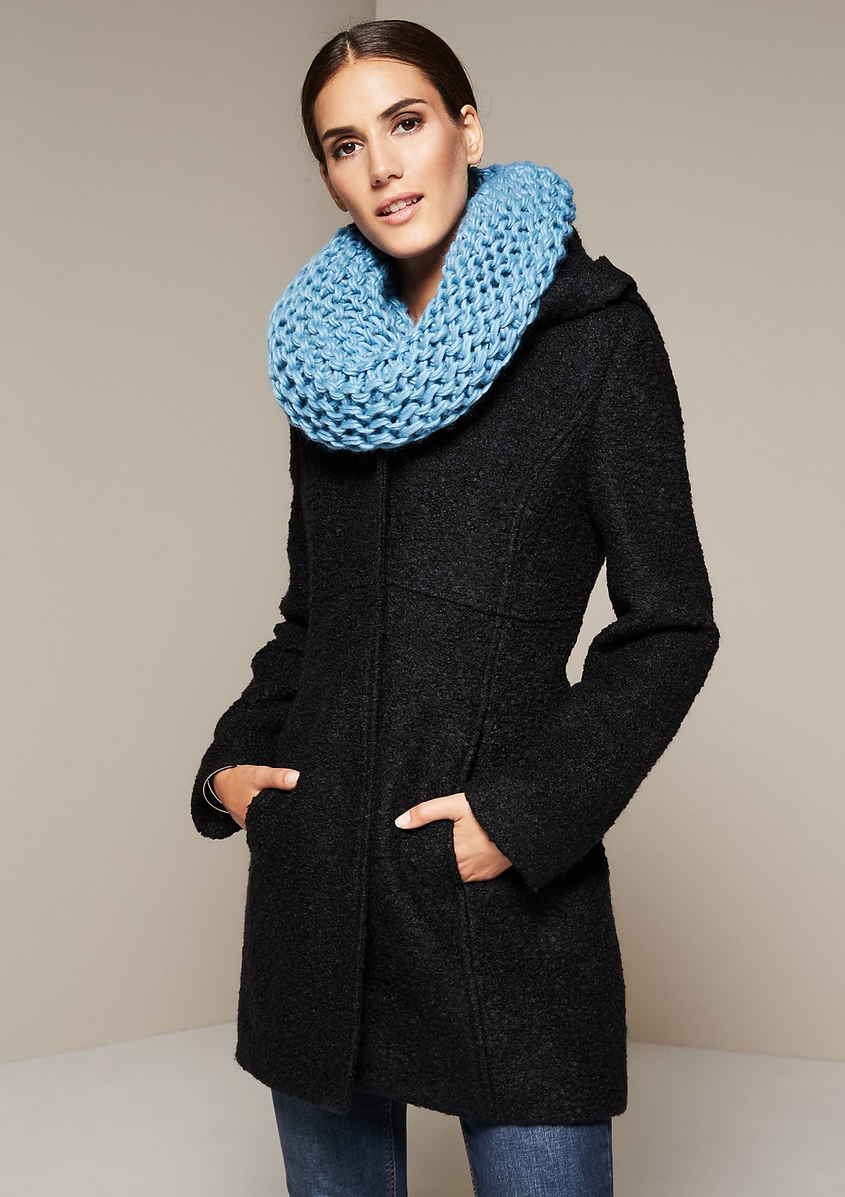 Cosy chunky knit scarf from s.Oliver