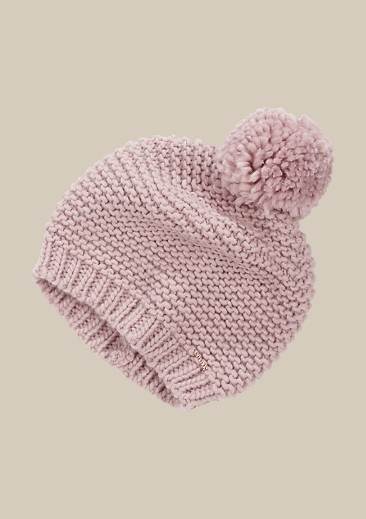 Soft winter hat with a pompom from s.Oliver