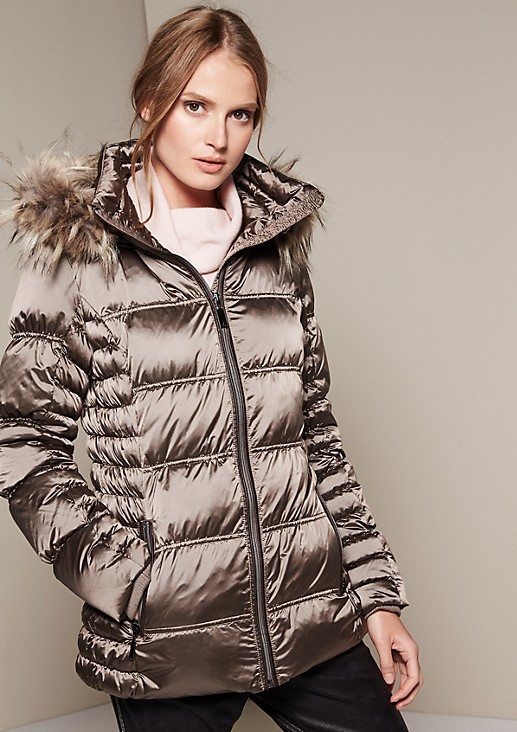 Lightweight down jacket with a zip-off hood from s.Oliver