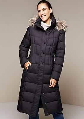 Warm winter coat in a quilted look from s.Oliver