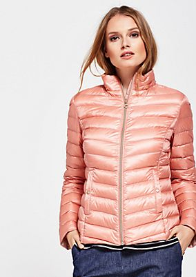 Warm down jacket with a classic quilted pattern from s.Oliver