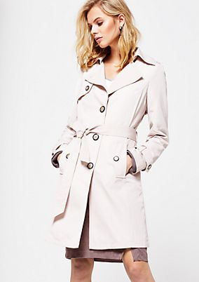 Classic trench coat with a wide fabric belt from s.Oliver