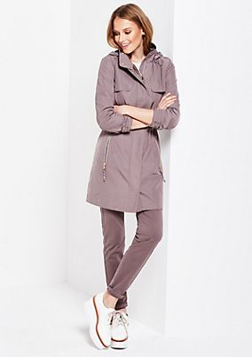 All-weather coat with a matte sheen and a detachable hood from s.Oliver