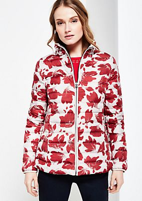 Warm down coat with a decorative all-over print from s.Oliver