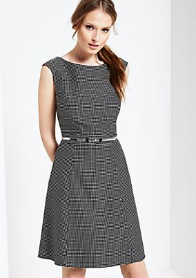 Elegant business dress with a fine, minimal all-over pattern from s.Oliver