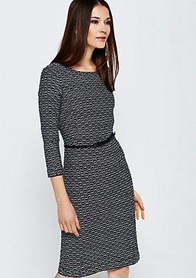 Elegant business dress with decorative textured pattern from s.Oliver