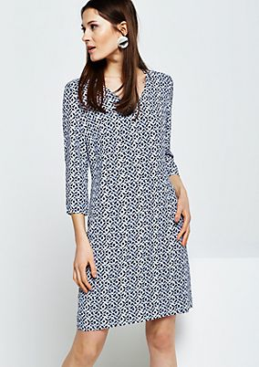 Fine crêpe dress with sophisticated details from s.Oliver