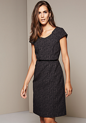 Aufregendes Businesskleid mit dekorativem Jacquardmuster