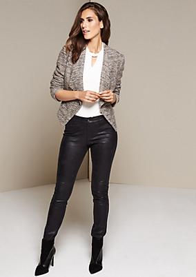 Casual-Pants aus Fake-Leder