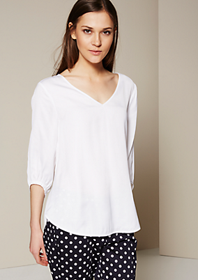 Edle 3/4-Arm Bluse mit raffinierten Details
