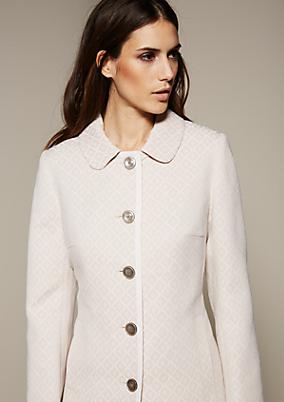 Edler Mantel mit liebevoll gestaltetem Jacquardmuster