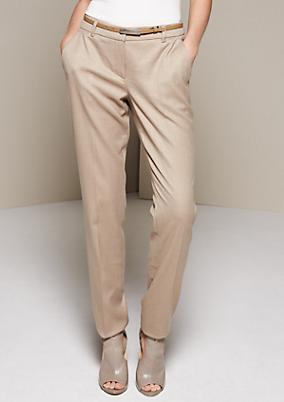 Elegante Buinesspants mit feinem Dobbymuster