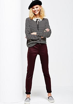 Elegante Denim Pants mit matt glänzender Oberfläche
