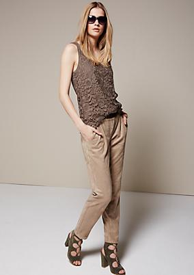 Elegante Pants aus weichem Velour