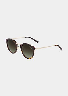 Elegante Sonnenbrille mit Fassung aus Acetat und Edelstahl